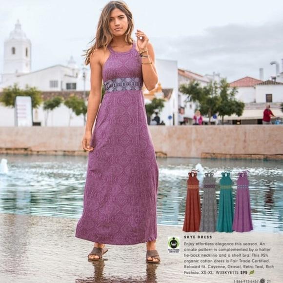 dc6bc45c7e2 Prana Skye Purple and Green Maxi Dress Size S